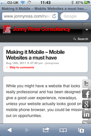 optimise website for mobile