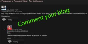 comment your blog