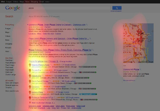 Google Places Eye Tracking