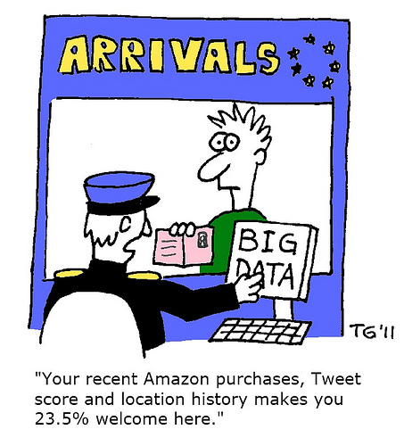 big data attribution humorous cartoon