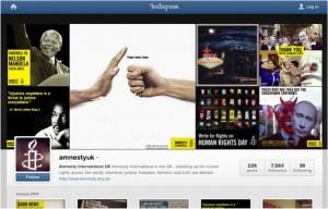 Amnesty UK Instagram page