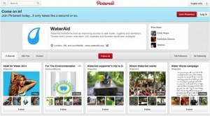 WaterAid Pinterest
