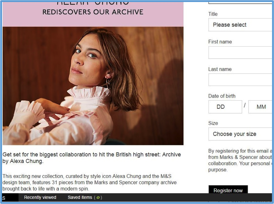 Alexa Chung Archive by M&S
