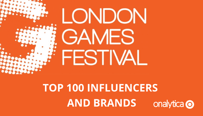 Onalytica London Games Festival Top Influencers Brands
